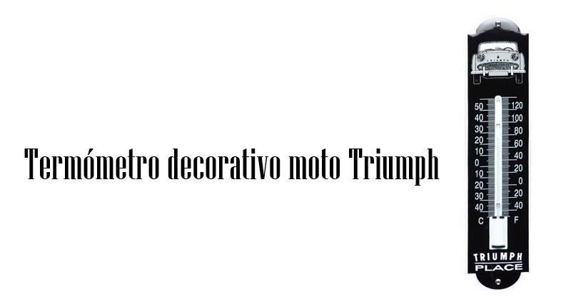 Termómetro decorativo moto Triumph