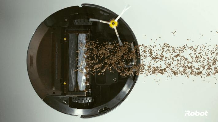rodillo de extractor de suciedad roomba